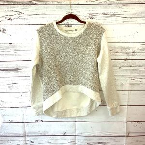 ATHLETA Shearling Front High Lo Sweater